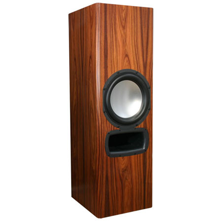 Rosewood Speakers with Natural Stain in High Gloss Finish.
