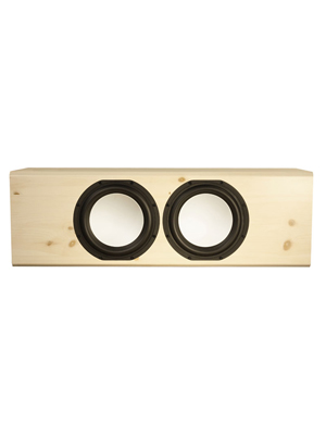 Knotty Pine Speakers with White Oak in Semi Gloss Finish.