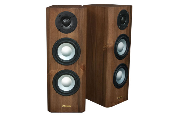 Knotty Pine Speaker with Nutmeg Stain in Semi Gloss Finish.