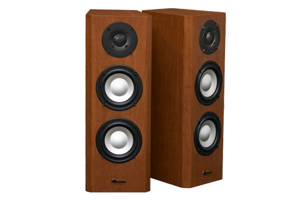 Maple Speakers with Cinnamon Stain in Semi Gloss Finish.