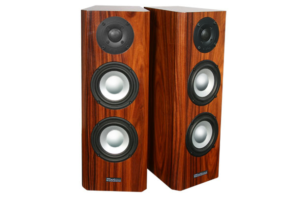 Rosewood Speakers with Natural Stain in Semi Gloss Finish.