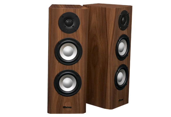 Walnut Speakers with Natural Stain in Semi Gloss Finish.
