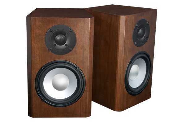 Cherry Speakers with Carmel Stain in Semi Gloss Finish.