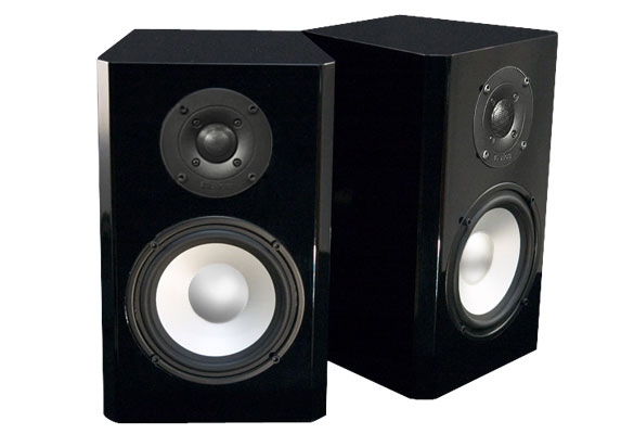 Black Speakers in High Gloss Finish.