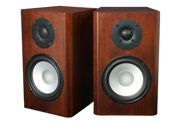 Walnut Speakers with Coffee Stain in Semi Gloss Finish.