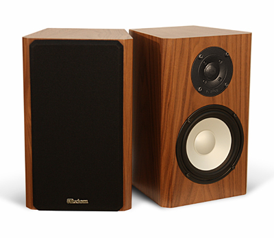 Walnut Speakers in Natural Wood with Semi Gloss Finish.