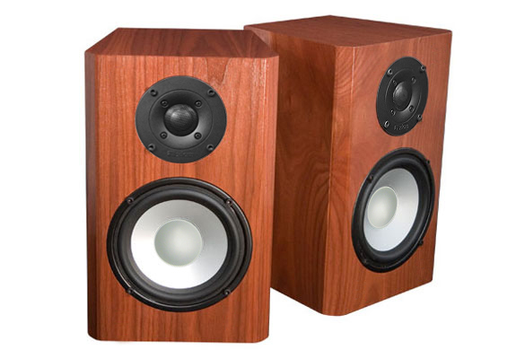 Walnut Speakers with Nutmeg Stain in Semi Gloss Finish.