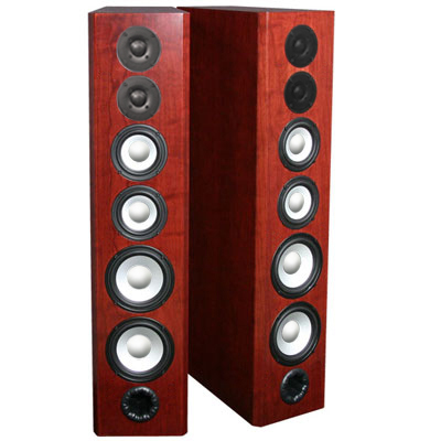 Cherry Speakers with Bordeaux Stain in Semi Gloss Finish.