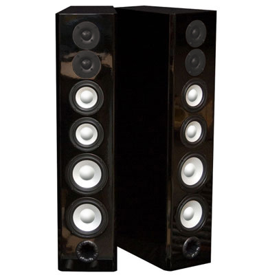 Black Speakers in High Gloss Finish.