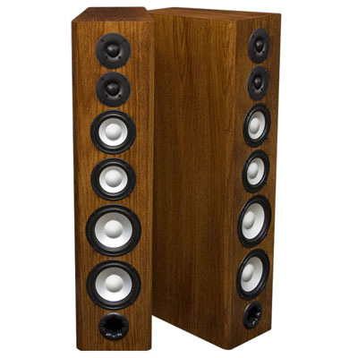 Oak Speakers with Coffee Stain in Satin Finish.