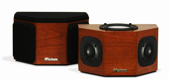 Cherry Speakers with Nutmeg Stain in Satin Gloss Finish.