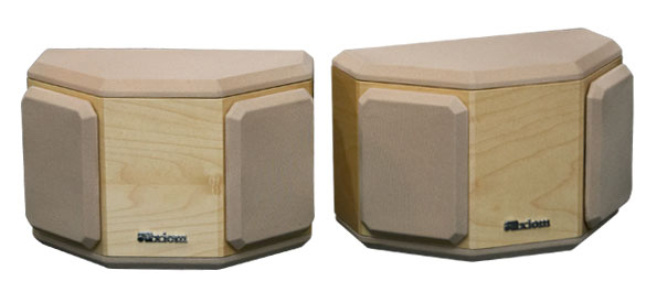 Maple Speakers in Natural Stain with Semi Gloss Finish.