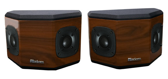 Rosewood Speakers with Nutmeg Stain in Semi Gloss Finish.
