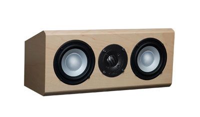 Maple Speakers with Natural Stain in Semi Gloss Finish.