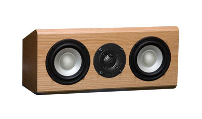 Oak Speakers with Natural Stain in Satin Finish.