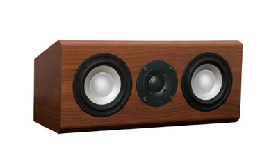 Walnut Speaker with Cinnamon Stain in Satin Finish.
