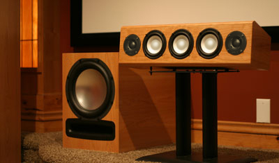 Maple Speaker with Custom Stain in Semi Gloss Finish - Epic 80 - 7.2 Home Theater System.