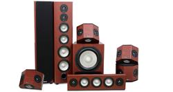 Epic 80-500 7.1 Surround Speaker System in Boston Cherry