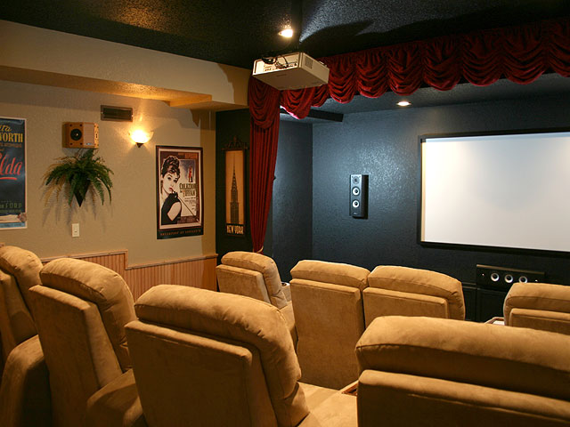 A great home movie theater expresses your personality.