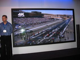 Panasonic's huge 4K super-resolution display