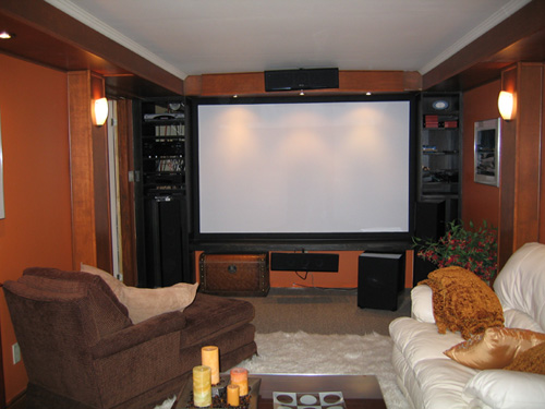 Home Theater with Comfortable Seating