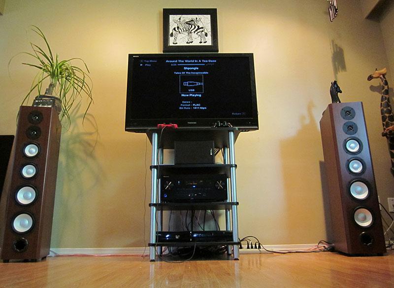 Floorstanding speakers