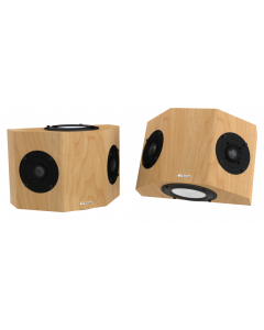 QS8 Surround Sound Speakers Maple Natural Satin