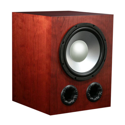 Cherry Speakers with Nutmeg Stain in Semi Gloss Finish.