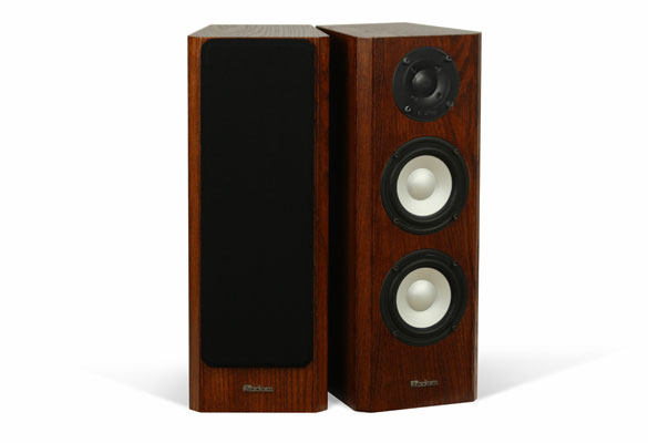 Oak Real Wood Speaker with Coffee Stain in a Satin Finish.
