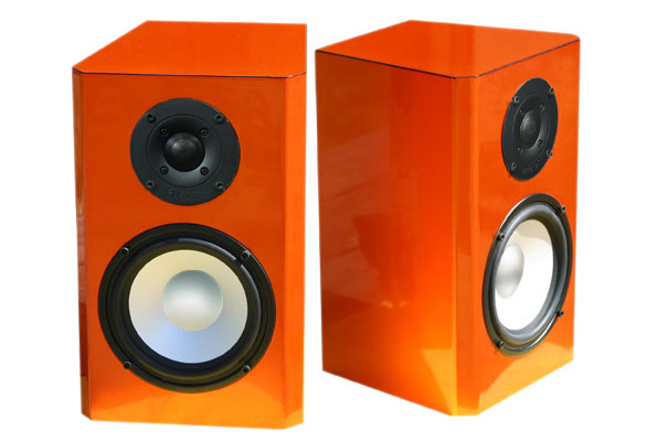 Orange Speakers in High Gloss Finish.