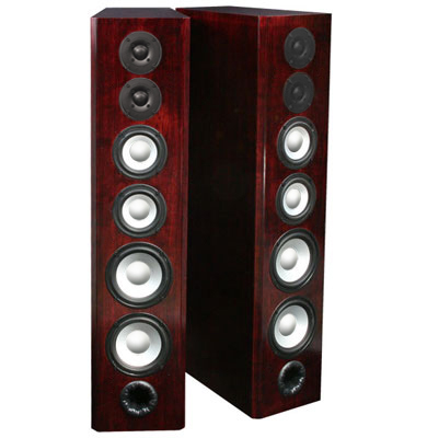 Cherry Speakers with Chestnut Stain in Semi Gloss Finish.