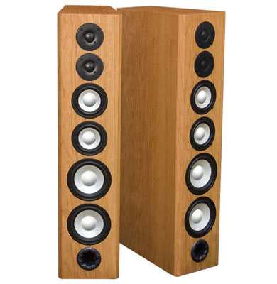Cherry Speakers with Natural Stain in Satin Finish.
