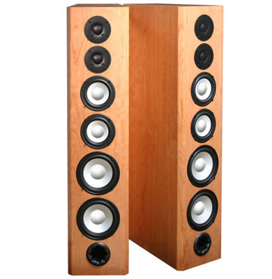 Cherry Speakers with Natural Stain in Semi Gloss Finish.