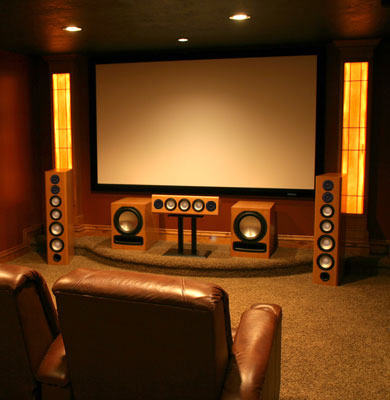 Maple Speakers with Custom Stain in Semi Gloss Finish - Epic 80 - 7.2 Home Theater System.