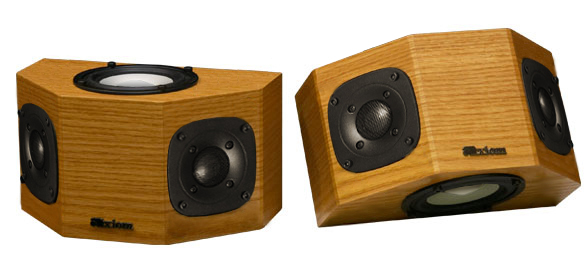 Oak Speakers with Buttercup Stain in Semi Gloss Finish.
