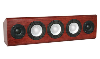 Cherry Speaker with Bordeaux Stain in Semi Gloss Finish.