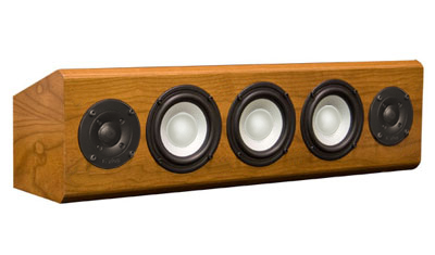 Cherry Speaker with Natural Stain in Satin Finish.