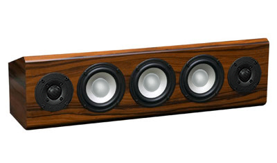 Rosewood Speaker with Natural Stain in Satin Finish.