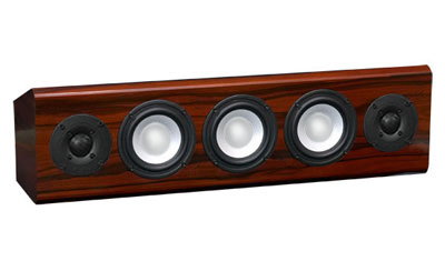 Rosewood Speaker with Red Stain in Semi Gloss Finish.