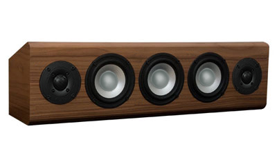 Walnut Speaker with Natural Stain in Semi Gloss Finish.