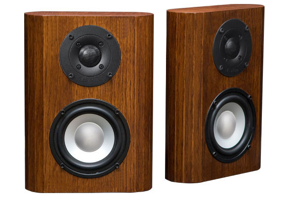 Oak Speakers with Coffee Stain in Semi Gloss Finish.