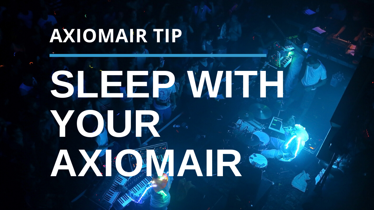 Set The Sleep Function on Your AxiomAir