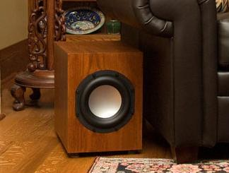 Axiom's EP400 Subwoofer in a Custom Oak Finish