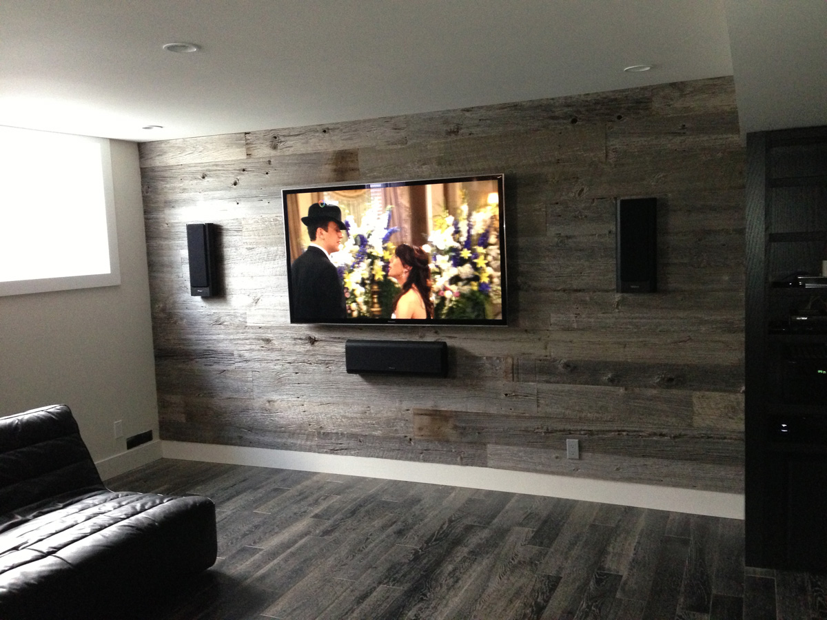 On wall home theater