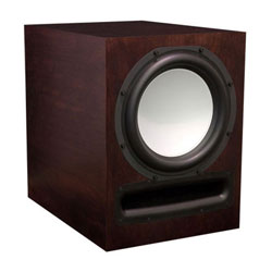 EP500 Powered Subwoofer in Cherry Wood, Chestnut Stain, Satin Finish