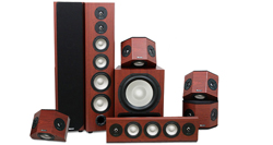 Epic 80-500 7.1 Surround Speaker System in Boston Cherry